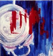 "MY ENEMYacrylic on canvas 37"" x 35"