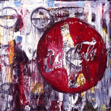 "COWBOY & COKEacrylic on canvas 24"" x 24"""